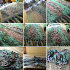 In lavorazione... lo scialle... mia pagina su FB:  facebook.com/laboratorioAB