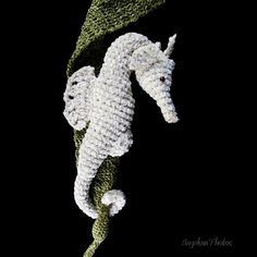 Crochet Seahorse. This is probably way too advanced for me, but I want to make it!