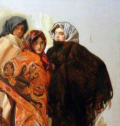 Joaquin Sorolla (Valencia, 1863 - Cercedilla, 1923) Tres madrileñas (1912) | Flickr - Photo Sharing! #Art