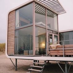Tiny beach house tiny sled beach house 1 tiny house for sale Home Interior Design, Exterior Design, Color Interior, Tiny Beach House, Beach Houses, Casas Containers, Building A Container Home, Container Houses, Modern House Design