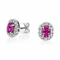 Find these stunningly pink sapphire & cubic zirconia cluster earrings from our RockChic collection for only €150. #rocksjewellery #graftonstreet #stillorgan #Dublinjewellers #irishjewellers #fashionaccessories #rockchic #giftidea #forher #ladiesfashion #summer2020