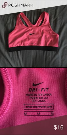 Nike Pro Magenta Sports Bra  brand • Nike wear • NWOT - absolutely no signs of wear size • m  This bright bra is so so cute, and has never even been worn!   I can't say yes if you don't offer! ☺️  Thank you for taking a look in my closet!  Nike Intimates & Sleepwear Bras
