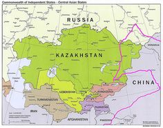 Kazakhstan- the Republic of Kazakhstan, is a contiguous transcontinental country in Central Asia, with its smaller part west of the Ural River in Eastern Europe.[2] Kazakhstan is the world's largest landlocked country by land area and the ninth largest country in the world.