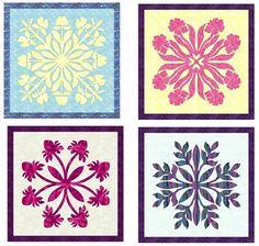 Barbara Bieraugel: Hawaiian Squares #2 by Barbara Bieraugal - Copyright 2008 Barbara Bieraugel Four patterns