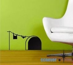 Cute mouse home----Removable Graphic Art wall decal