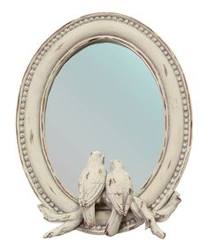 This shabby chic mirror is what you need to open up a small space | Songbirds Mirror
