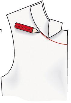 Existem dois métodos para forrar um vestido: o forro pode ser costurado à mão, pelo avesso com o revel do decote e das cavas, ou com as bordas diretamente costuradas com o forro. Dress Sewing Patterns, Sewing Patterns Free, Sewing Tutorials, Sewing Projects, Sewing Sleeves, Sewing Pants, Costura Fashion, Sewing Collars, Sewing Courses
