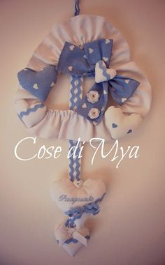 Cose di Mya: Fiocco Nascita...Celeste