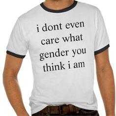 Nonbinary t-shirts
