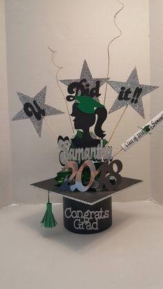 New masters graduation party decorations Graduation Party Desserts, Graduation Party Centerpieces, Graduation Celebration, Graduation Decorations, Graduation Party Decor, Diy Party Decorations, Graduation Card Boxes, Centerpiece Decorations, Bachelor