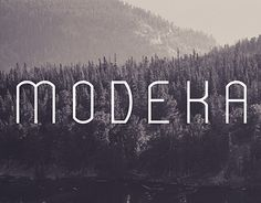 Echa un vistazo a este proyecto @Behance: \u201cMODEKA - Free Font\u201d https://www.behance.net/gallery/19524749/MODEKA-Free-Font
