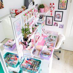 Room Design Bedroom, Girl Bedroom Designs, Room Ideas Bedroom, Cute Room Ideas, Cute Room Decor, Study Room Decor, Stationery Craft, Kawaii Room, Space Crafts