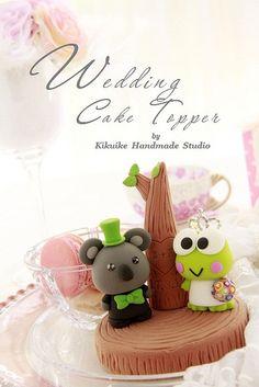 Wedding Cake Topper-love Koala & Keroppi with tree by charles fukuyama, via Flickr