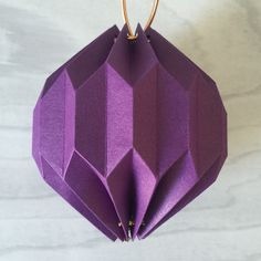 Completed second origami lantern. From Tutorial using Silhouette Cameo by Nadine Muir from Silhouette UK Blog