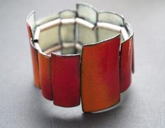 Enamel Bracelet $420.00 || QUOIL Artists - Contemporary Jewellery Gallery