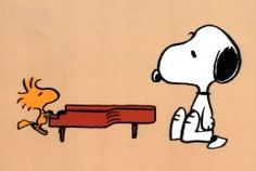 Woodstock plays Schroeder's Piano