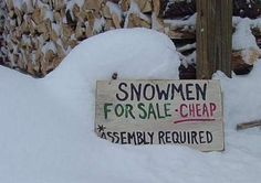 snowmen for sale...
