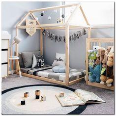 Toddler Floor Bed, Toddler House Bed, Toddler Rooms, Baby Floor Bed, House Beds For Kids, Kids Rooms, Floor Beds, Kids Toddler Bed, Floor Bed Frame
