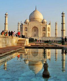 Greg Gui and Rafa  India  March 2010  Make the most of your visit to the fabulous Taj Mahal and get there before the sun rises. You get to see its colour changing as the sun comes up with far less tourists around.  Pensando em conhecer o Taj Mahal? Faça questão de chegar cedinho... Você verá ele mudar de cor quando o sol nascer e terão muito menos turistas por lá nesse horário. #tajmahal #agra #india #incredibleindia #indialove #sunrise #colour #photooftheday #photography #architecture…