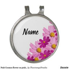 Pink Cosmos flower on pink background Golf Hat Clip Golf Gifts For Men, Gifts For Dad, Gifts For Women, Monthly Subscription, Ladies Golf, Golf Ball, Cosmos, Markers, Scrapbook