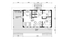 Own Home, Tiny House, House Plans, Floor Plans, Wooden Houses, Ny Ny, Cottage, Cabin, How To Plan