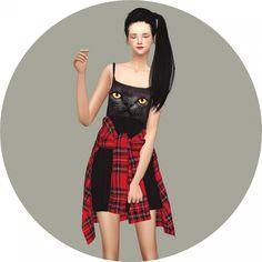Tied Shirt Dress at Marigold via Sims 4 Updates  Check more at http://sims4updates.net/clothing/tied-shirt-dress-at-marigold/