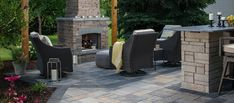 Our picture gallery of outdoor pizza oven ideas offers a number of stunning designs to bring the distinct flavor of brick oven cooking to your outdoor kitchen. Brick Oven Outdoor, Outdoor Fire, Outdoor Living, Outdoor Decor, Belgard Pavers, Oven Design, Home Improvement Companies, Hardscape Design, Fire Pit Designs