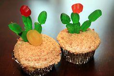 Cactus-Cupcakes treats, cupcakes, cacti, western vbs, parties, wild west theme preschool, wild wild west for kids, cactus cupcak, girl night