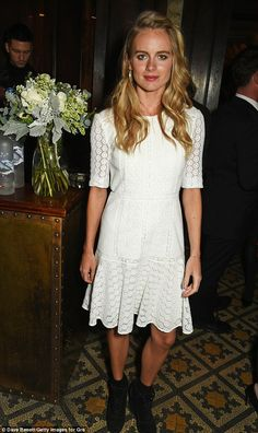 Ladylike look: Cressida Bonas was partying in style at the glamorous Harvey Weinstein, Burberry & Evgeny Lebedev event ahead of the 2017 BAFTA film awards at Little House Mayfair on Friday night
