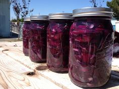 West Vernon Elementary had a gigantic crop of stunningly beautiful red cabbages...there were so many, we decided to make #Sauerkraut!