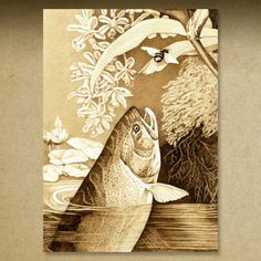 Gallery Two Pyrography Illustrations by Cate McCauley