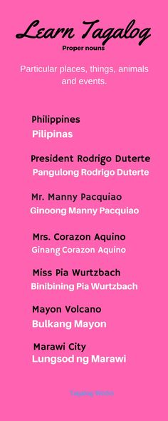 What is Mr, Mrs, and Miss in Tagalog. Tagalog Words, Nouns And Pronouns, Pinoy, Filipino, Vocabulary, Pride, Language, Learning, Philippines