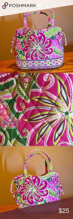 "Vera Bradley Pink Pinwheel Sherry Tote Like new Vera Bradley Pink Pinwheel Sherry Tote. 10x4x7"". 2 inside pockets. Snap closure Vera Bradley Bags"