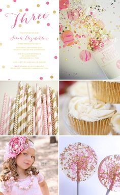 pink and gold party favors - Google Search