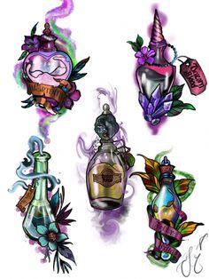 Drew this custom Harry Potter potion bottle flash sheet up. Drew this custom Harry Potter potion bottle flash sheet up. Hp Tattoo, Piercing Tattoo, Body Art Tattoos, Tattoo Drawings, Cute Drawings, Piercings, Tatto Harry Potter, Harry Potter Drawings, Desenho New School