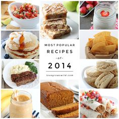 Top 10 Recipes of 2014! The most popular recipes from the past year voted by YOU! Desserts, dinner ideas, smoothies, snacks, and more! | LoveGrowsWild.com