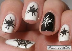 Halloween Nails with Nails Inc Floral Street and a-england Camelot