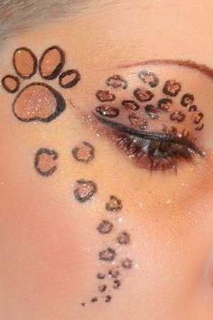 Look Maquillage léopard sign style Félin
