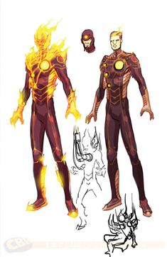 Justice League 3000 - Firestorm by Howard Porter Character Drawing, Comic Character, Character Concept, Character Ideas, Superhero Characters, Dc Comics Characters, Arte Dc Comics, Marvel Comics, Comic Books Art