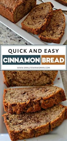 Cinnamon Bread is an easy sweet bread that comes together quickly and is swirled with sweet cinnamon butter making it perfect for breakfast or brunch. Cinnamon Butter, Cinnamon Bread, Cinnamon Desserts, Cinnamon Recipes, Baking Recipes, Cake Recipes, Dessert Recipes, Breakfast Bread Recipes, Cleaning Recipes