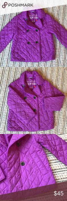 J. Crew Girls Lightweight Barn Coat in Lilac J. Crew Girls Lightweight Barn Coat in Lilac. Excellent condition! J. Crew Jackets & Coats Puffers