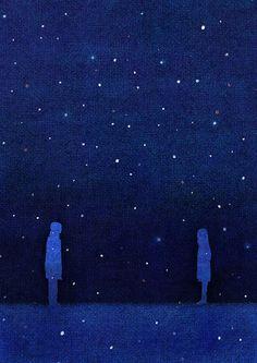 te veré en la noche, cuando nuestros sueños salgan a contar estrellas...