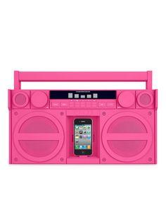 Bright Pink Boombox