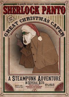 Sherlock Panto, November 2012. Design by Amy Shields, Edinburgh College of Art.