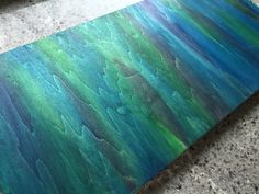 Wood art stained using Unicorn Spit. Wow. And this was my original practice board.