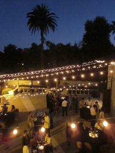 Wedding Reception On Shakespeare Club Patio In Pasadena, CA By JD Wolfe  Pottery, Via