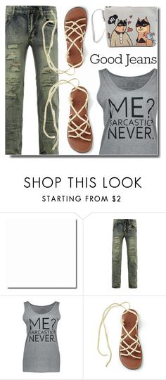 """""""Good jeans"""" by soks ❤ liked on Polyvore featuring polyvoreeditorial"""