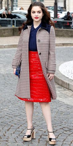 Look of the Day - March 12, 2015 - Odeya Rush in Miu Miu from #InStyle