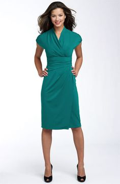 Suzi Chin for Maggy Boutique Ruched Faux Wrap Dress available at #Nordstrom