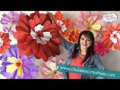 Flores Gigantes de Papel :: Chuladas Creativas - YouTube
